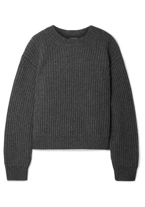 Acne Studios - Oversized Ribbed Wool Sweater - Dark gray