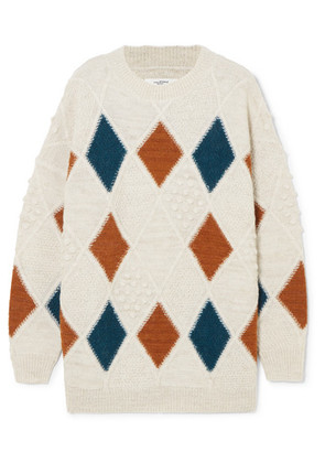 Isabel Marant Étoile - Gink Argyle Alpaca-blend Sweater - Cream