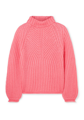 Stine Goya - Nicholas Ribbed Mohair-blend Turtleneck Sweater - Bubblegum