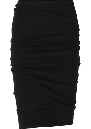 TOM FORD - Ruched Stretch-jersey Skirt - Black