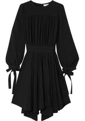 Chloé - Pleated Asymmetric Cady Dress - Black