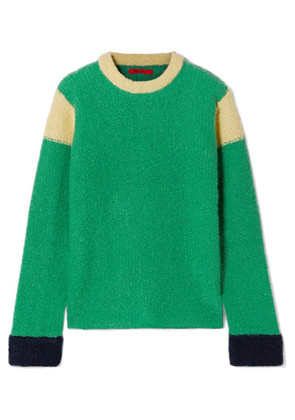 Eckhaus Latta - Kermit Color-block Knitted Sweater - Green