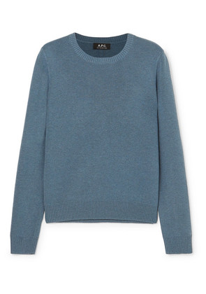 A.P.C. Atelier de Production et de Création - Aida Knitted Sweater - Blue