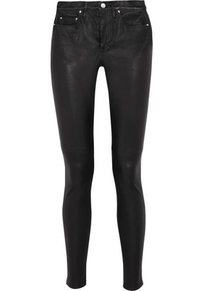 IRO - Stretch-leather Skinny Pants - Black