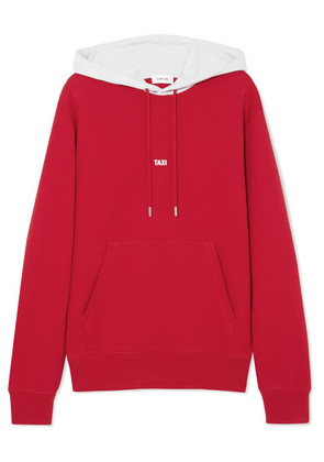 Helmut Lang - Hong Kong Taxi Printed Cotton-jersey Hoodie - Red