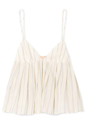 Brock Collection - Ombrello Striped Cotton Camisole - Off-white