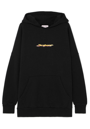 Palm Angels - Arrows Printed Cotton-jersey Hoodie - Black