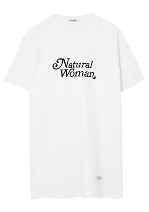BLOUSE - Natural Woman Printed Cotton-jersey T-shirt - White