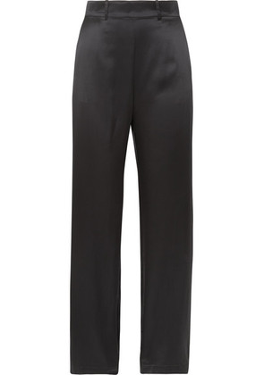 Michael Lo Sordo - Silk-satin Wide-leg Pants - Black