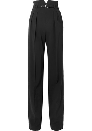 REDValentino - Belted Stretch-crepe Wide-leg Pants - Black