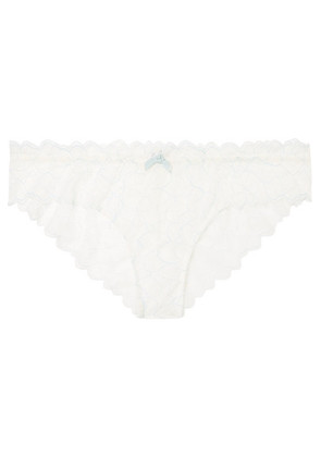 Eberjey - Rosario The Cheeky Stretch-corded Lace Briefs - Ivory