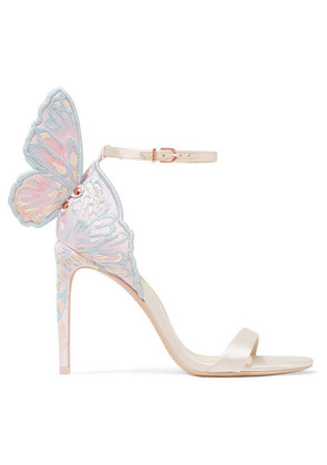 Sophia Webster - Chiara Embroidered Satin Sandals - Ivory