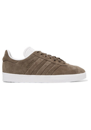 adidas Originals - Gazelle Stitch And Turn Suede Sneakers - Army green