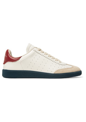 Isabel Marant - Bryce Logo-print Suede-trimmed Leather Sneakers - White