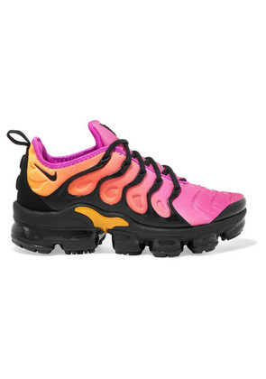 Nike - Air Vapormax Plus Faux Suede-trimmed Neoprene And Rubber Sneakers - Bright pink