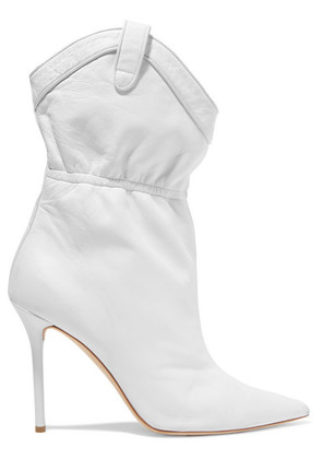 Malone Souliers - + Emanuel Ungaro Daisy 100 Leather Ankle Boots - White