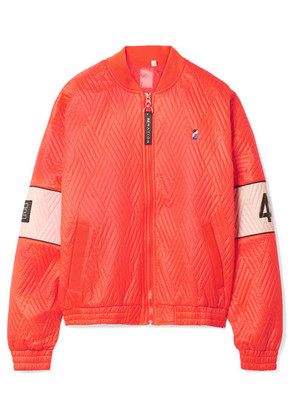 P.E NATION - The Ice Breaker Printed Quilted Shell Bomber Jacket - Papaya