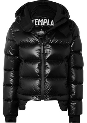 TEMPLA - 10k Nano Gloss Hooded Quilted Shell Down Jacket - Black