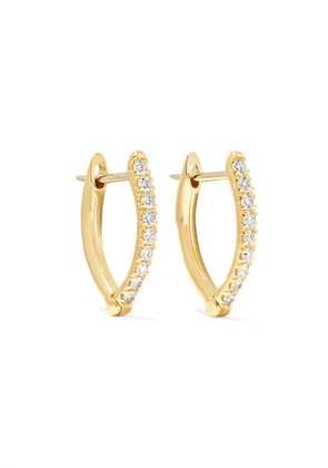 Melissa Kaye - Cristina Small 18-karat Gold Diamond Earrings - one size