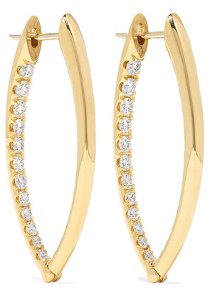 Melissa Kaye - Cristina Medium 18-karat Gold Diamond Earrings - one size