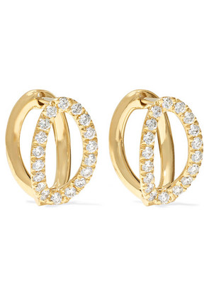Melissa Kaye - Mila Small 18-karat Gold Diamond Earrings - one size