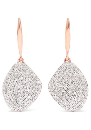 Monica Vinader - Nura Rose Gold Vermeil Diamond Earrings - one size