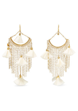 Rosantica - Brezza Gold-tone, Pearl And Silk Earrings - White