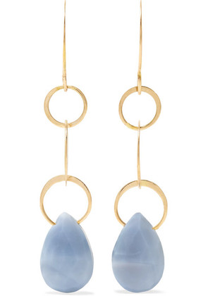 Melissa Joy Manning - 14-karat Gold Opal Earrings - one size