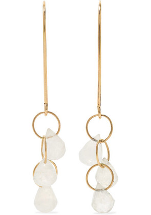 Melissa Joy Manning - 14-karat Gold Moonstone Earrings - one size