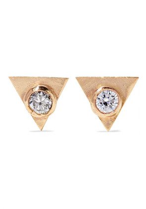Melissa Joy Manning - 14-karat Gold Diamond Earrings - one size