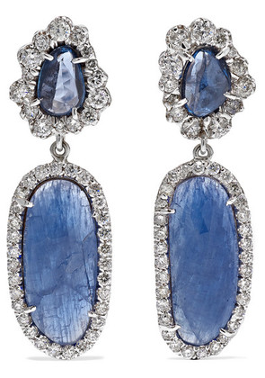 Kimberly McDonald - 18-karat White Gold Multi-stone Earrings - one size