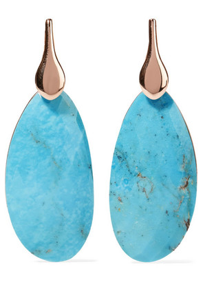 Monica Vinader - Nura Rose Gold Vermeil Turquoise Earrings - one size