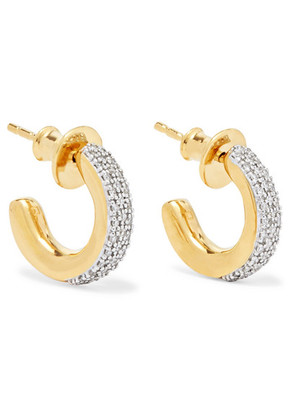 Monica Vinader - Fiji Mini Gold Vermeil Diamond Hoop Earrings - one size