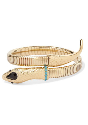 Etro - Gold-tone, Crystal And Stone Cuff - one size