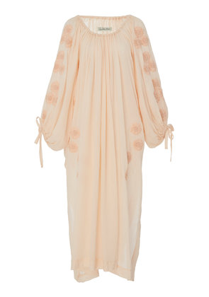 Innika Choo Frida Wailes Floral-Embroidered Cotton-Voile Dress