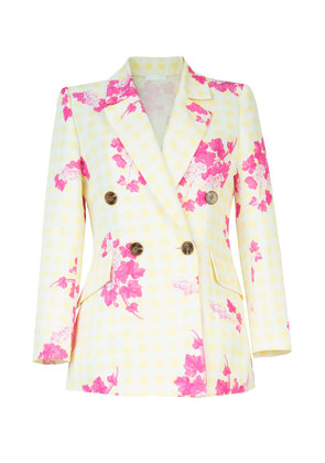 Lake Studio Double-Breasted Printed Cotton and Silk-Blend Blazer