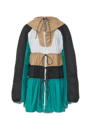 Sportmax Scire Color-Block Shell Hooded Jacket