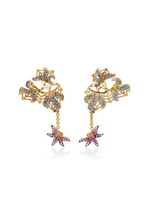 Wendy Yue 18K Gold Sapphire And Diamond Earrings