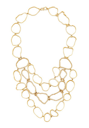 Kimberly McDonald Geode Outline Bib Necklace