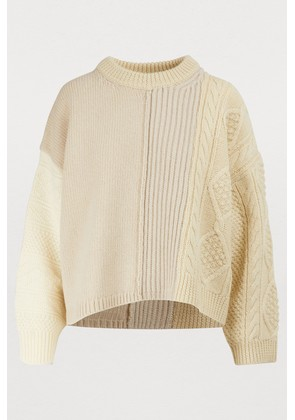 Ribbed and cable knit sweater