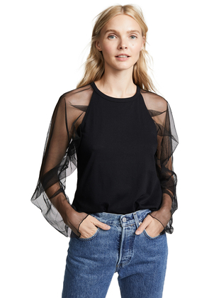 See by Chloe Sheer Sleeve Top