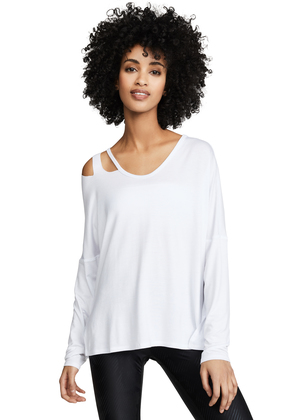 Terez Raw Slash Top