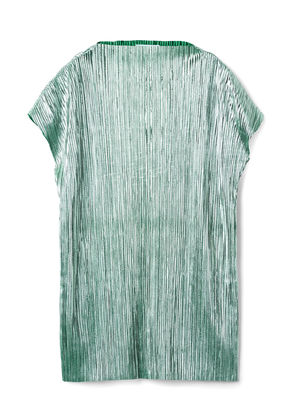 Ava Plissé Dress - Green
