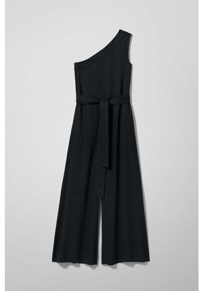 Margie One Shoulder Jumpsuit - Black