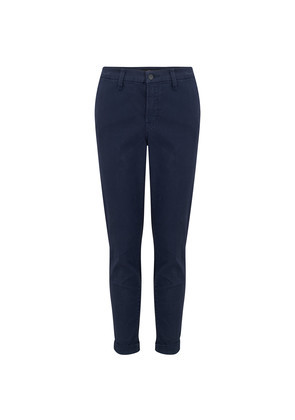 Josie Mid Rise Tapered Skinny Trousers - Rugby Blue