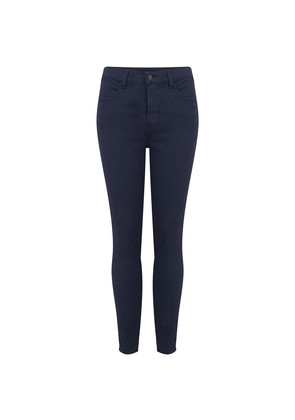 Alana High Rise Cropped Super Skinny Jeans - Rugby Blue