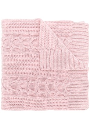 N.Peal wide cable scarf - Pink