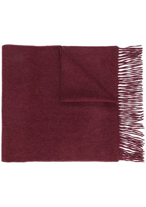 N.Peal large woven scarf - Red