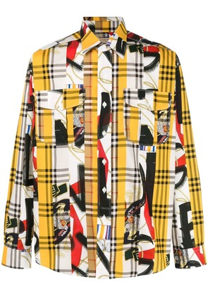 Burberry Archive Scarf print shirt - Yellow