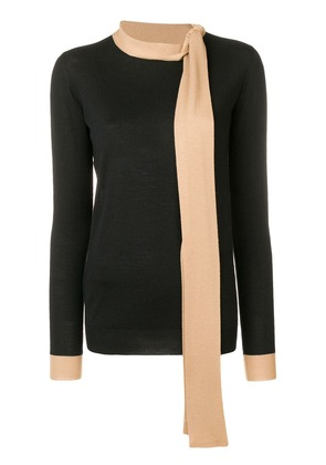 Marni fitted knit sweater with scarf - Black